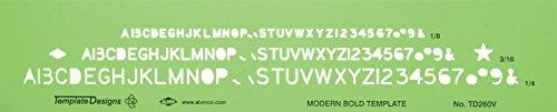 Alvin TD260V Modern Bold Lettering Template