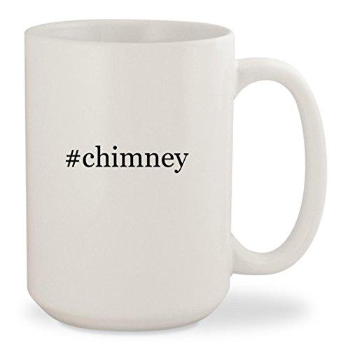 #chimney - White Hashtag 15oz Ceramic Coffee Mug (Chimney Rock Cabernet Sauvignon Wine)