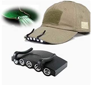 Clip On LED Head Lamp Cap Hat Light Torch For Fishing Hunting Camping Running