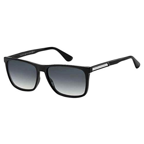 Tommy Hilfiger Men's Th1547s Rectangular Sunglasses, Black, 57 mm