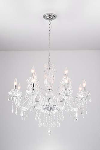 Cheap Crystal pendant chandelier/light fixture for dining room/living room/foyer H.25″ X W.25″ (5 lights)