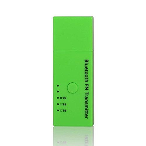 Price comparison product image MChoice EC5 Car Kit USB Wireless Bluetooth FM transmitter Radio Adapter MP3 Player (Green)