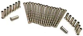 Pomos KLYNGTSK 16 PCS Tornillos M4 con 16 PCS Tuercas M4 de Acero Niquelado Tornillos M4 de Conexi/ón de Manijas de Puerta Tornillos M4 de Conexi/ón y Fijaci/ón para Tirador de Puerta