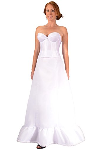 Bridal Dresses Petticoat A Line Crinoline Tulle Slip for Wedding Gown & Bridesmaid at Beach Weddings to Prevent Sheer and Display Dress Embellishments. Plus Size Avail. Save on Costly Hem Alterations - Give Your Dress the Shape it Needs - (Alfred Angelo Bridal Coats)