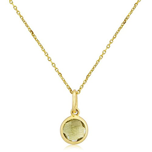 Nathis August Birthstone Necklace Pendant Green Amethyst