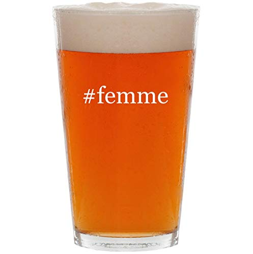 #femme - 16oz Hashtag All Purpose Pint Beer Glass