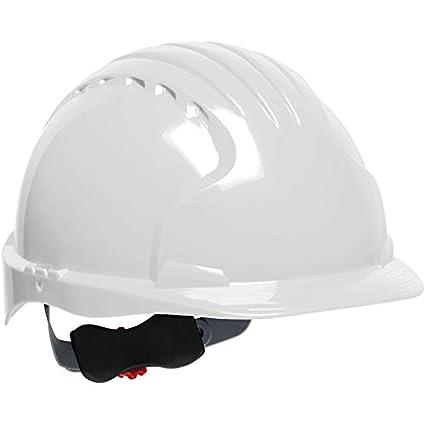 Safety Works Pro Hard Hat White 6-Point Wheel Ratchet Suspension SWX00368