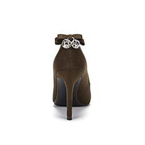 Verde Uk Nero Giudiziali 4 36 Weddingdaphne Centimetri Da Nightclub 5 eu Arco Alto Donna Scarpe Partito Moda Sexy Lavoro Snfgoij 9 Tacco q6ARFx
