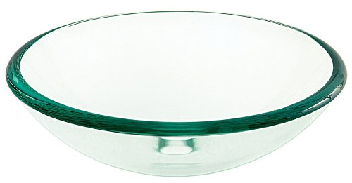 Decolav 1119T-TNG Tempered Glass Vessel, Green