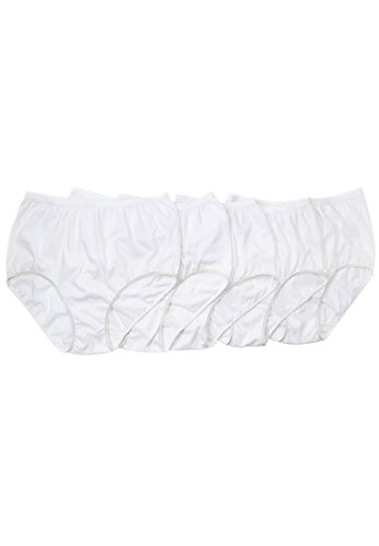 Comfort Choice Women's Plus Size 10-Pack Cotton Full-Cut Brief White Pack,11