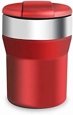 車の灰皿ステンレス鋼金属車のふた多機能クリエイティブ人格覆われた車ユニバーサル灰皿7.5×11センチ YCHAOYUE (Color : Red)