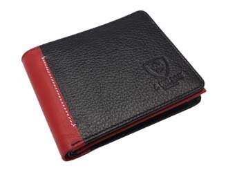 Designer J Wilson Real Genuine Mens High Quality Leather Wallet Coin Card Purse Red Blue Black (Blue 5229)