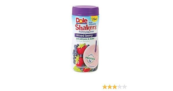 Dole Shakers Fruit Smoothie Yogurt Kit Mixed Berry 4 Oz Pack Of 4