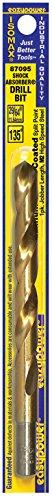 "Price comparison product image Eazypower 87095 29 / 64"" Titanium 135-Degree Split Point M2 High Speed Steel Drill Bit (1 Pack)"
