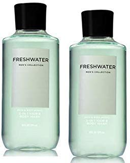 Bath and Body Works Men's Collection Freshwater 2 in 1 Hair and Body Wash 10 Oz. 2 ()