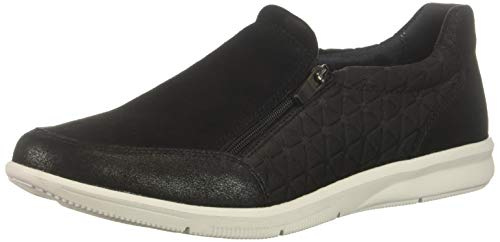 Women's SneakerBlack Us Quilted9 M Ayva Rockport Zip yvfI6Y7gb