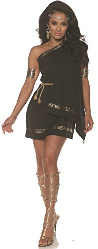 Underwraps Women's Classic Greek Toga Costume-Black, -