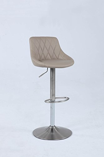 Gas Lift Swivel Stool - Milan MAGDALENA-AS-GRY Magdalena Gas Lift Swivel Grey PU Stool