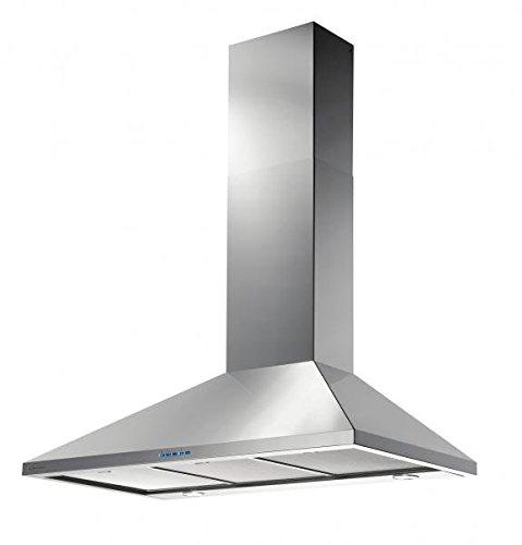 Vertikale Kaminhaube Wandhaube der Oberklasse / GALVAMET IDEAL 90/A INOX / 90 cm / * EEK A * / 100 % MADE IN ITALY / STARK und LEISE / Dunstabzugshaube / Inox Design / ECO LED