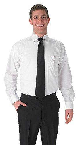 Deluxe Long Sleeve Shirt - Premium Men's White Long Sleeve Dress Shirt - 2XL 34/35 ...