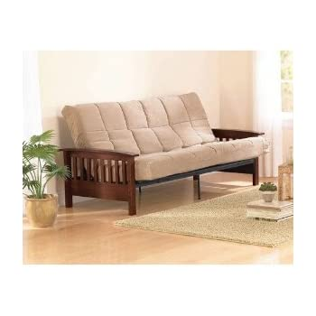 Amazon Com Mission Wood Arm Futon Heirloom Cherry Solid