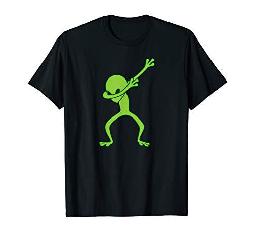 Dabbing Alien Shirt Dab UFO Monster Dabbin Neon Green]()