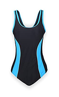 ReliBeauty Womens Solid One Piece Bathing Suit