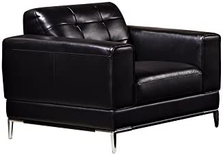 Reviewed: American Eagle Furniture Modern Italian Leather Upholstered Living Room Accent Chair