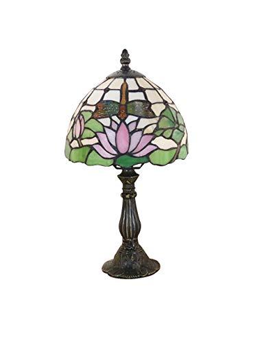 KCoob Table Lamp Umbrella Shape Purple Lotus Leaf on Cover