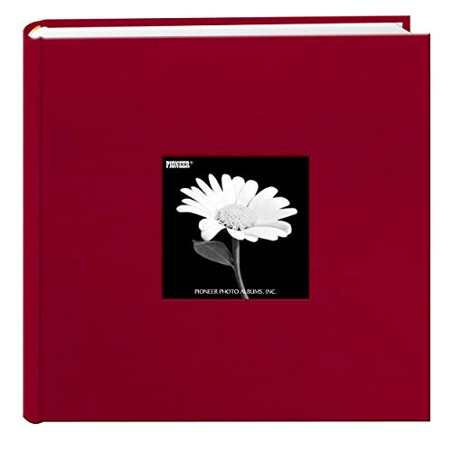 - Fabric Frame Cover Photo Album 200 Pockets Hold 4x6 Photos, Apple Red