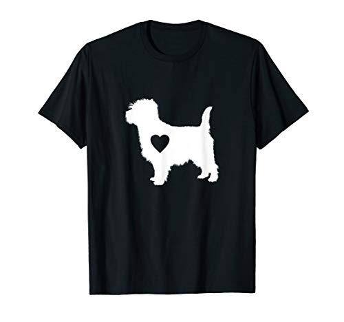 Cairn Terrier love T-Shirt heart silhouette dog gift ()
