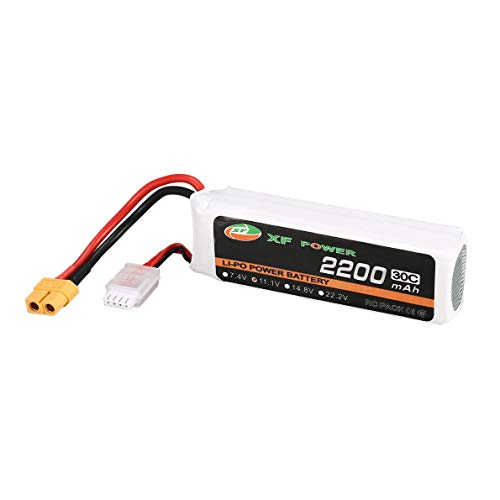 uqiangbao 11.1V 2200mAh 30C 3S 3S1P Lipo Battery XT60 Plug Rechargeable for RC FPV Racing Drone Helicopter Car Boat Model