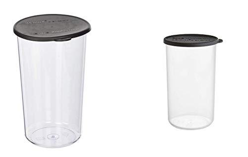 Bamix Immersion Blender Beaker Set - 400 mL & 600 mL with Black Lids, Bundle