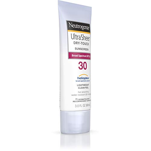 Neutrogena Ultra Sheer Dry-Touch Sunscreen Lotion, Broad Spectrum SPF 30 UVA/UVB Protection, Oxybenzone-Free, Light, Water Resistant, Non-Comedogenic & Non-Greasy, Travel Size, 3 fl. Oz(Pack of 2)