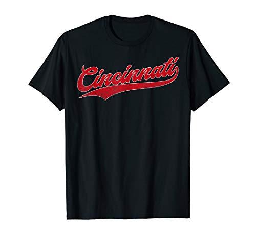 Cincinnati Baseball | Ohio Pride Vintage Retro Red Gift T-Shirt