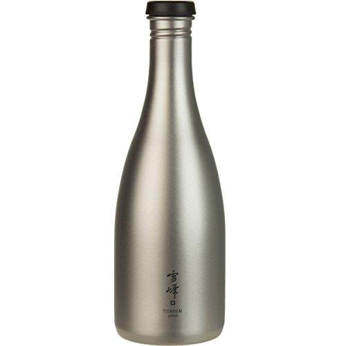 Snow Peak Men's Titanium Sake Bottle, Silver, One Size ()