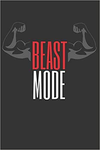 Beast Mode Workout Log Book Gym Bodybuilding Journal