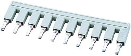 2 Positions, 2016-402 Busbar DIN Rail Terminal Blocks Push-in Type Jumper Bar Jumper Pack of 20