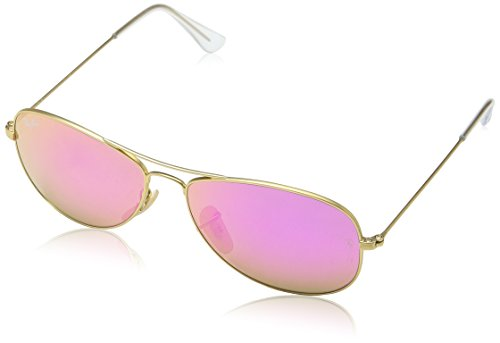 Ray Ban RB3362 Cockpit Sunglasses-112/4T Gold (Cyclamen Flash Lens)-56mm (Lens 56mm)