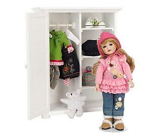 Little Lovey's Closet L.e. Porcelain Doll with Wardrobe B...