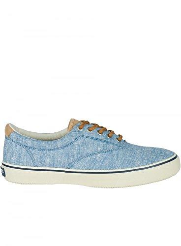 SPERRY Hombres Striper Ll Linen Canvas Trainer Linen Blue Blue