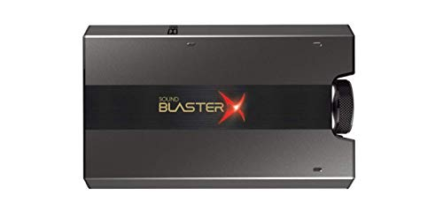 IDS Home Creative Sound BlasterX G6 7.1 HD Gaming DAC and External USB Sound Card with Xamp Headphone Amplifier, Black