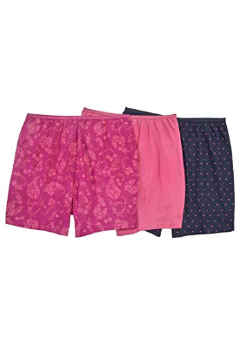 Comfort Choice Women's Plus Size 3-Pack Cotton Boxer - Paisley Heart Pack, 7