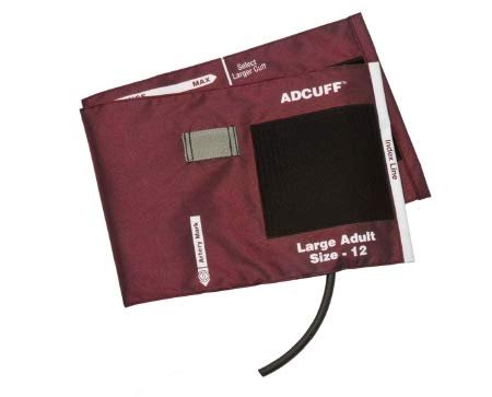 ADCUFF & Bladder, 1 Tube, Lrg Adult, Burgundy