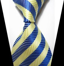 (jacob alex #38822 Classic Necktie Mens Elegant Striped Tie WOVEN JACQUARD Silk Men's Suits)