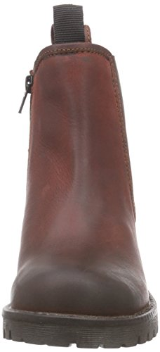 Black 264 467 - botas chelsea de cuero mujer rojo - Rot (Dk.Red LD 558)
