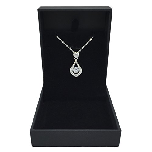 """You Are The One"" Designer Jewelry Twinkling Heart Collection Sterling Silver Pendant Necklace"