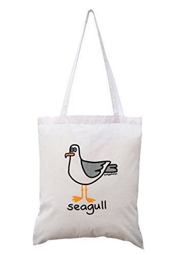 Seagull tote White cotton Seagull White bag White qwgxaBS