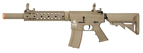 (Lancer Tactical M4 Gen 2 AEG Electric Airsoft Rifle Gun - Tan)