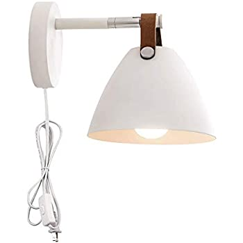 Kiven Wall Sconce Lamps Plug-in Lighting Fixture with on ...